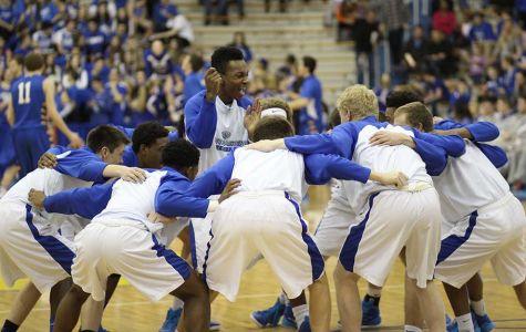 Basketball team plays final sectional game against Carmel; Blue Crew rewarded for spirit during season