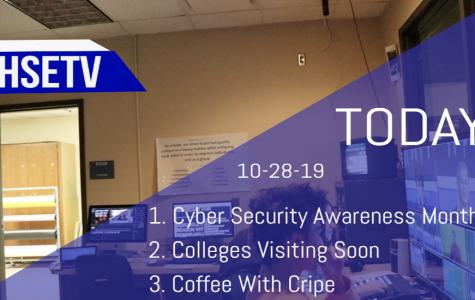 HSETV Newscast: Monday, October 28th, 2019