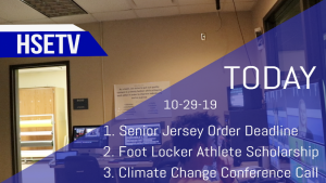 HSETV Newscast: Tuesday, October 29th, 2019