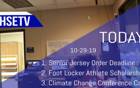 HSETV Newscast: Tuesday, October 29th, 2019