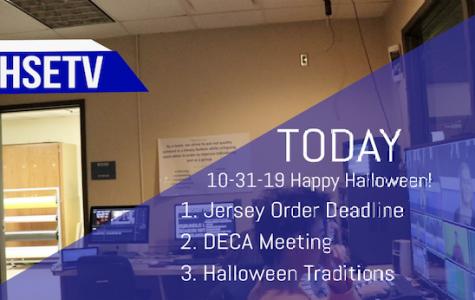 HSETV Newscast: Thursday, October 31st, 2019