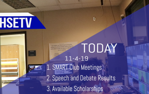 HSETV Newscast: Monday, November 4th, 2019