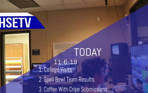 HSETV Newscast: Wednesday, November 6th, 2019