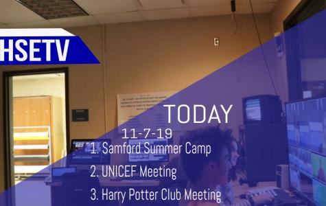 HSETV Newscast: Thursday, November 7th, 2019
