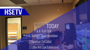 HSETV Newscast: Tuesday, November 12, 2019