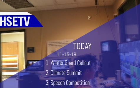 HSETV Newscast: Friday, November 15th, 2019