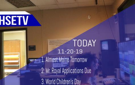 HSETV Newscast: Wednesday, November 20th, 2019
