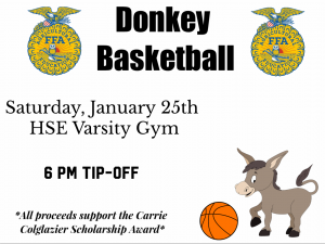 Hamilton Southeastern FFA: Donkey Basketball