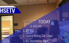 HSETV Newscast: Thursday, January 23rd, 2020
