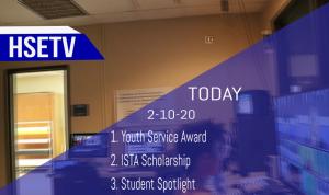 HSETV Newscast: Monday, February 10th, 2020