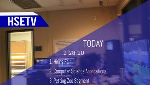 HSETV Newscast: Friday, February 28th, 2020