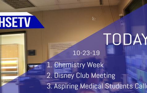 HSETV Newscast: Wednesday, October 23rd, 2019