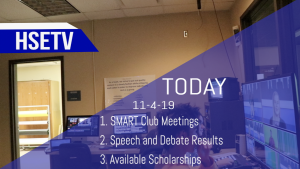 HSETV Newscast: Monday, November 4th, 2019