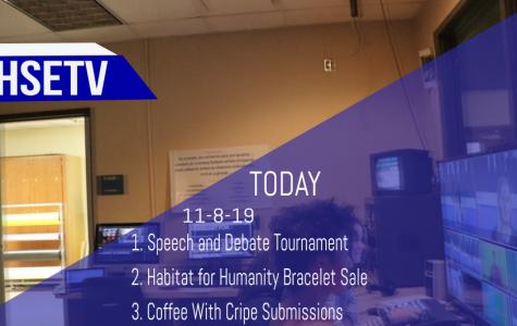 HSETV Newscast: Friday, November 8th, 2019