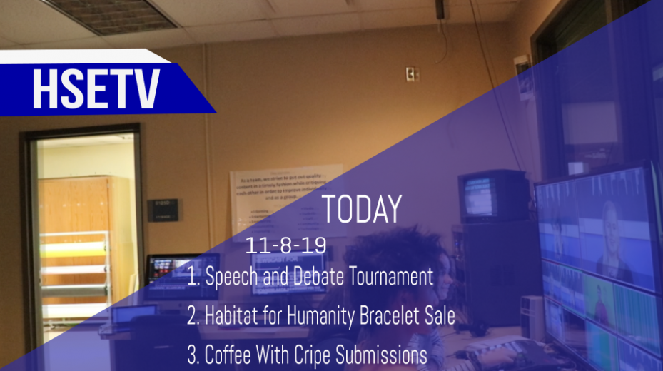 HSETV Newscast: Tuesday, November 5th, 2019