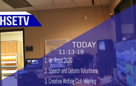 HSETV Newscast: Wednesday, November 13th, 2019