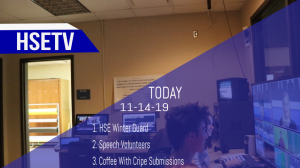 HSETV Newscast: Thursday, November 14th, 2019