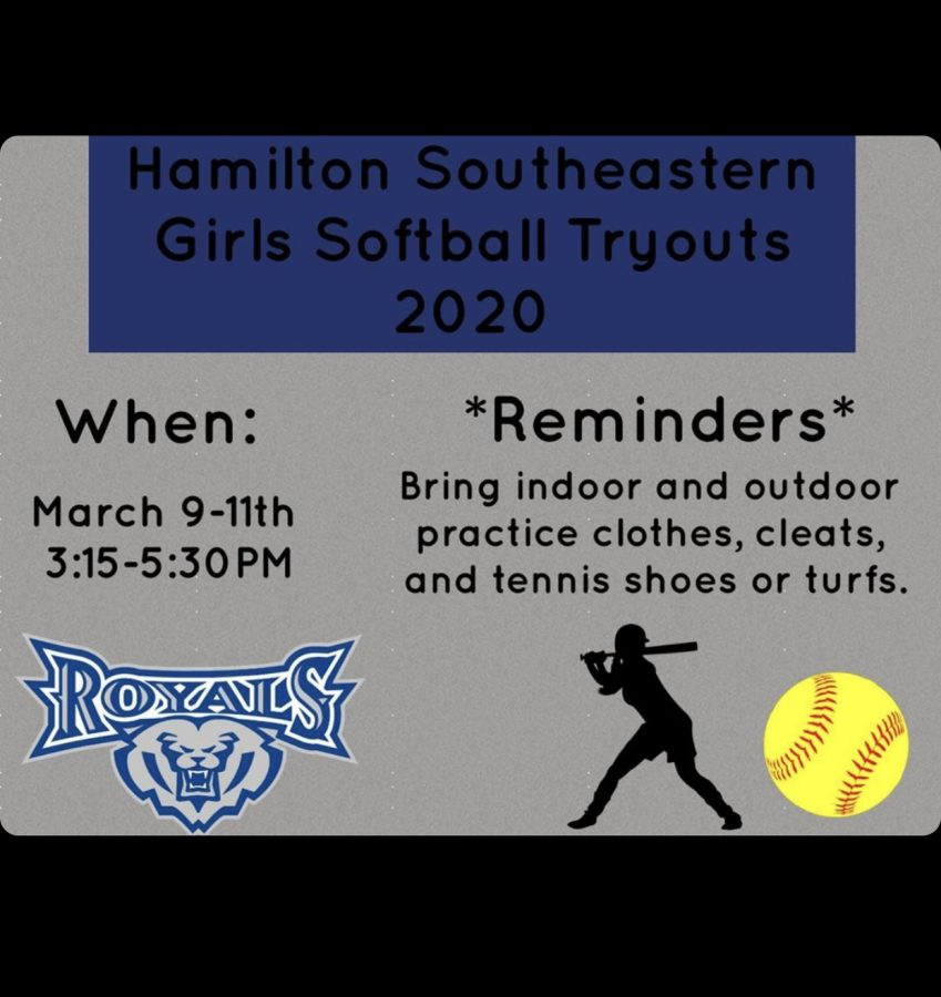 HSE+Girls+Softball+Tryouts+2020+Season