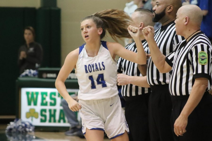 The+HSE+Girls+Basketball+team+competed+against+Noblesville+in+the+second+round+of+IHSAA+Sectional+play+on+February+7%2C+2020+at+Westfield+High+School.+The+Royals+came+out+on+top+59-42+to+advance+to+the+IHSAA+Sectional+final+vs+Fishers+on+February+8.+Photos+by+Lee+Cook