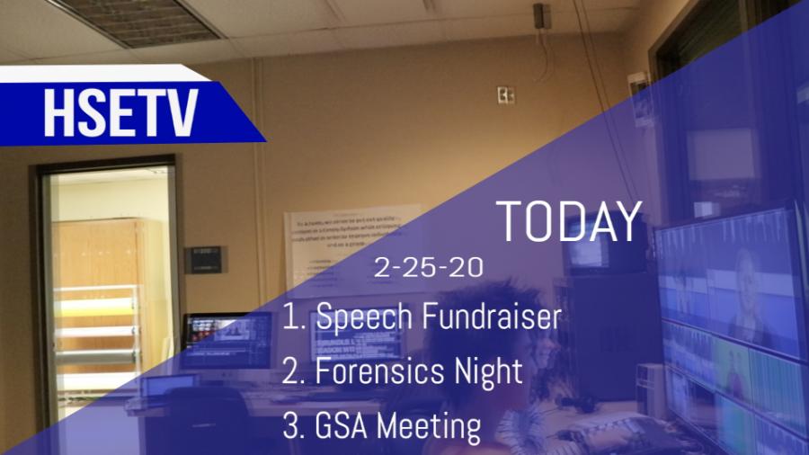 HSETV Newscast: Tuesday, February 25th, 2020