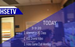HSETV Newscast: Monday, March 9th, 2020