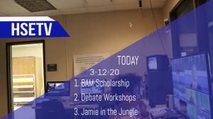 HSETV Newscast: Thursday, March 12th, 2020