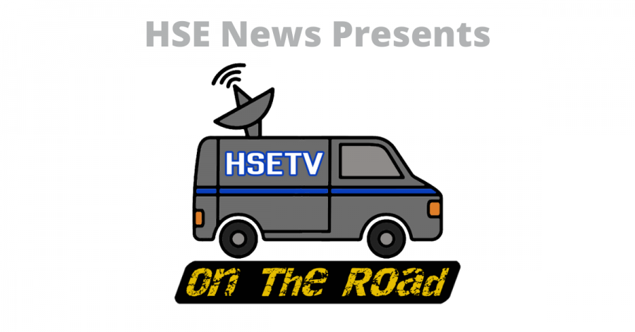 The new logo for the HSE News series titled HSETV On The Road.